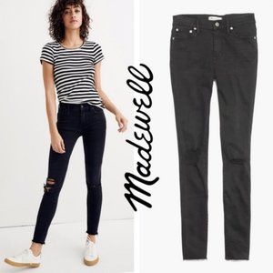 """Madewell 9"""" High Rise Skinny Jeans Distressed 28"""